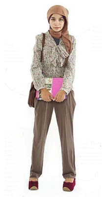 Gaya Busana Muslimah Remaja Untuk Kuliah Fashion
