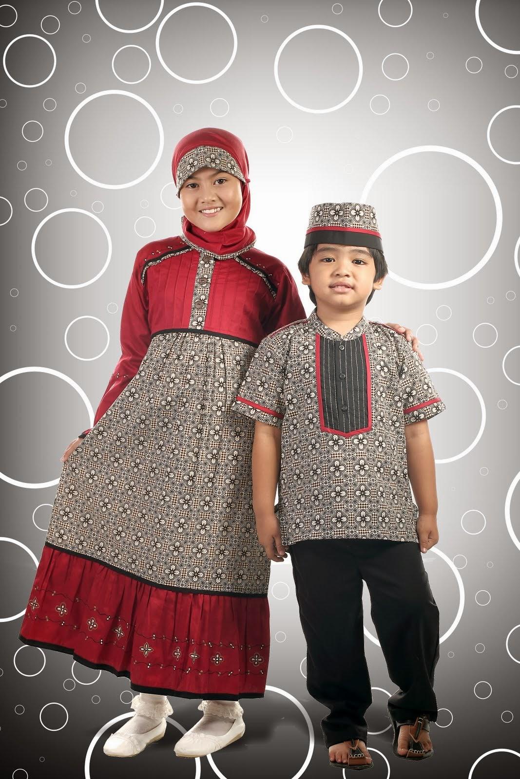 Busana Muslim Motif Batik untuk anak 32788adc18