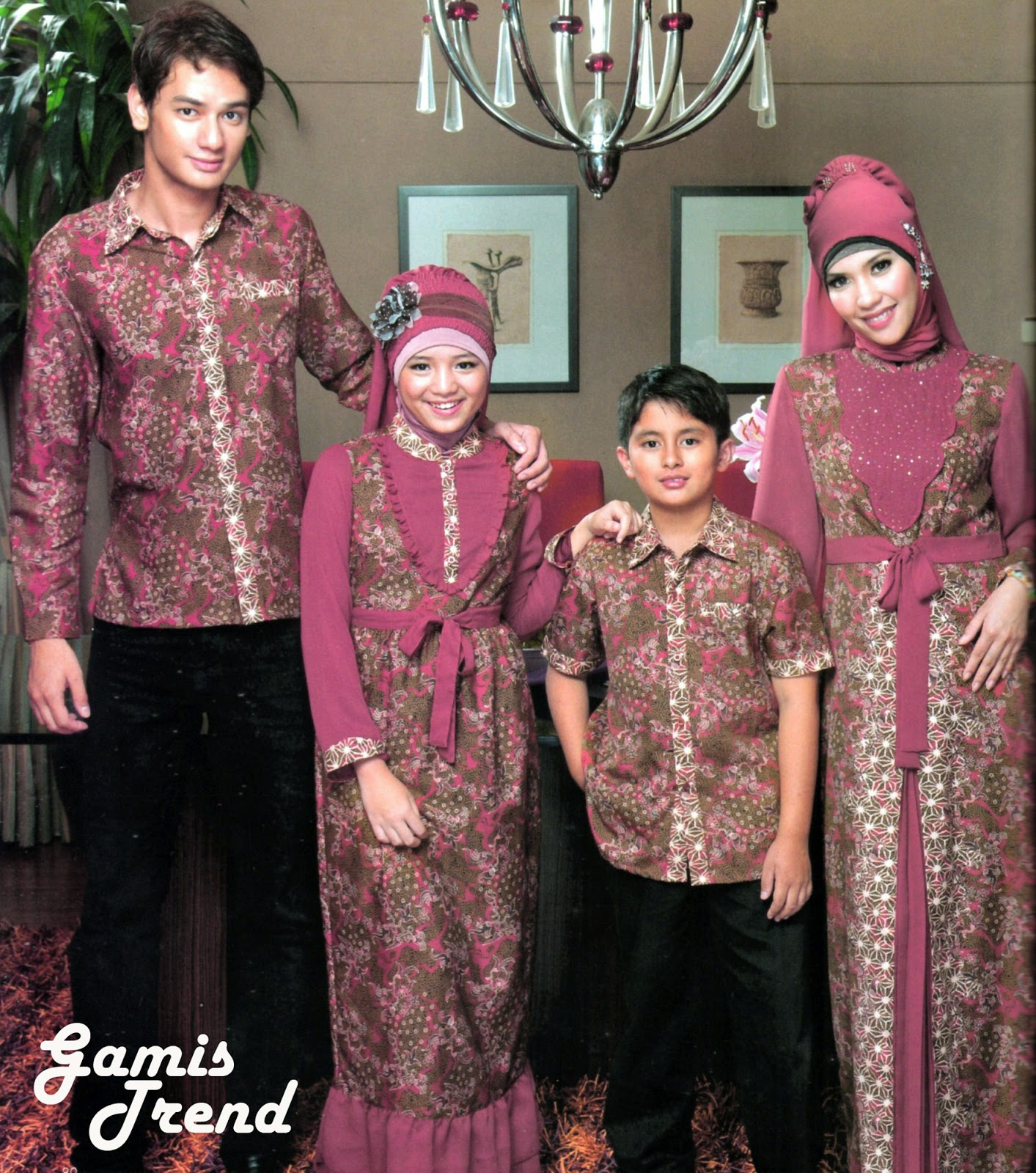 Model Baju Batik Muslim Anak Fashion